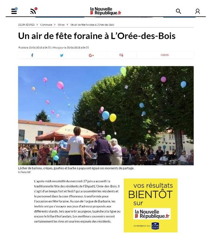 Article nr fete residents 2018